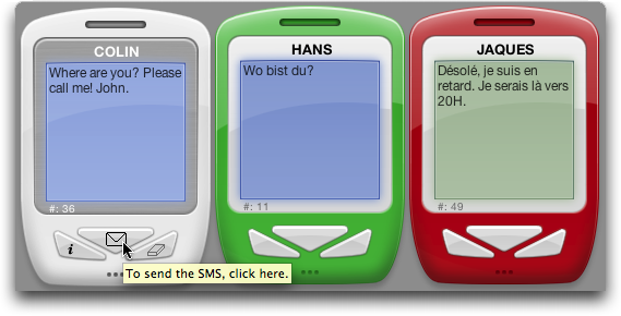 SMS Vista screenshot