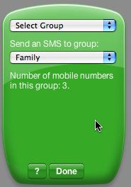 Widget Select Group