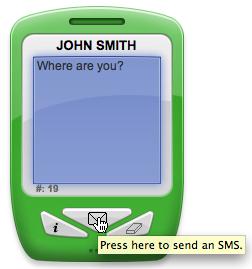 Send SMS Dashboard Widget