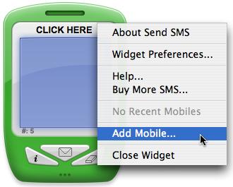 Yahoo Widget Add Mobile